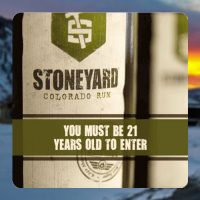 Stoneyard Distillery's 21 or older warning message