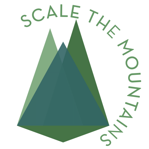 Digital Mountaineers icon with text wrapped around
