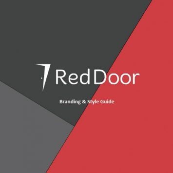 Cover page of Red Door branding guide